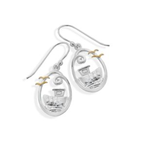 pure origins handcrafted sterling silver cornish fishing boat earrings 300x300 - Cornish Fishing Boat Earrings by Pure Origins