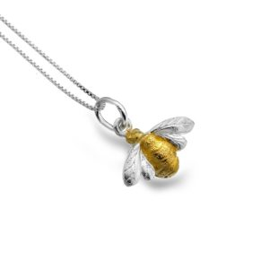 pure origins handcrafted sterling silver golden bumble bee pendant 300x300 - Golden Bumble Bee Pendant by Pure Origins
