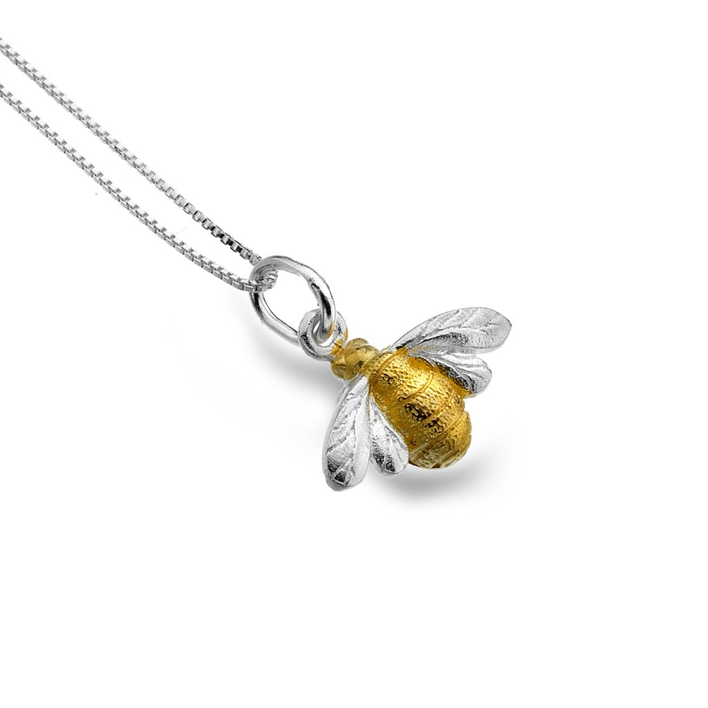 Golden bumble bee pendant by pure origins sandy toes gifts pure origins handcrafted sterling silver golden bumble bee pendant 600x600 golden bumble bee pendant by aloadofball Images
