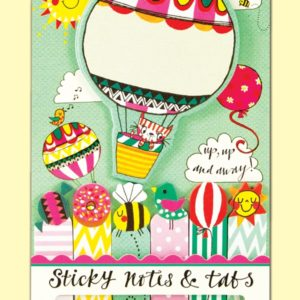 rachel ellen sticky notes tabs cat in balloon 300x300 - Cat in Balloon Shaped Sticky Notes and Tabs by Rachel Ellen