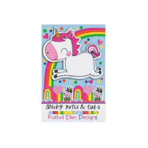 rachel ellen sticky notes tabs unicorn 300x300 - Unicorn Shaped Sticky Notes and Tabs by Rachel Ellen