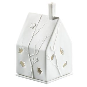 rader leaves tea light house 300x300 - Autumn Leaves Porcelain Tealight House by Rader