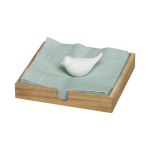rader wooden napkin holder with white porcelain bird 300x300 - Wooden Napkin Holder with White Porcelain Bird by Rader