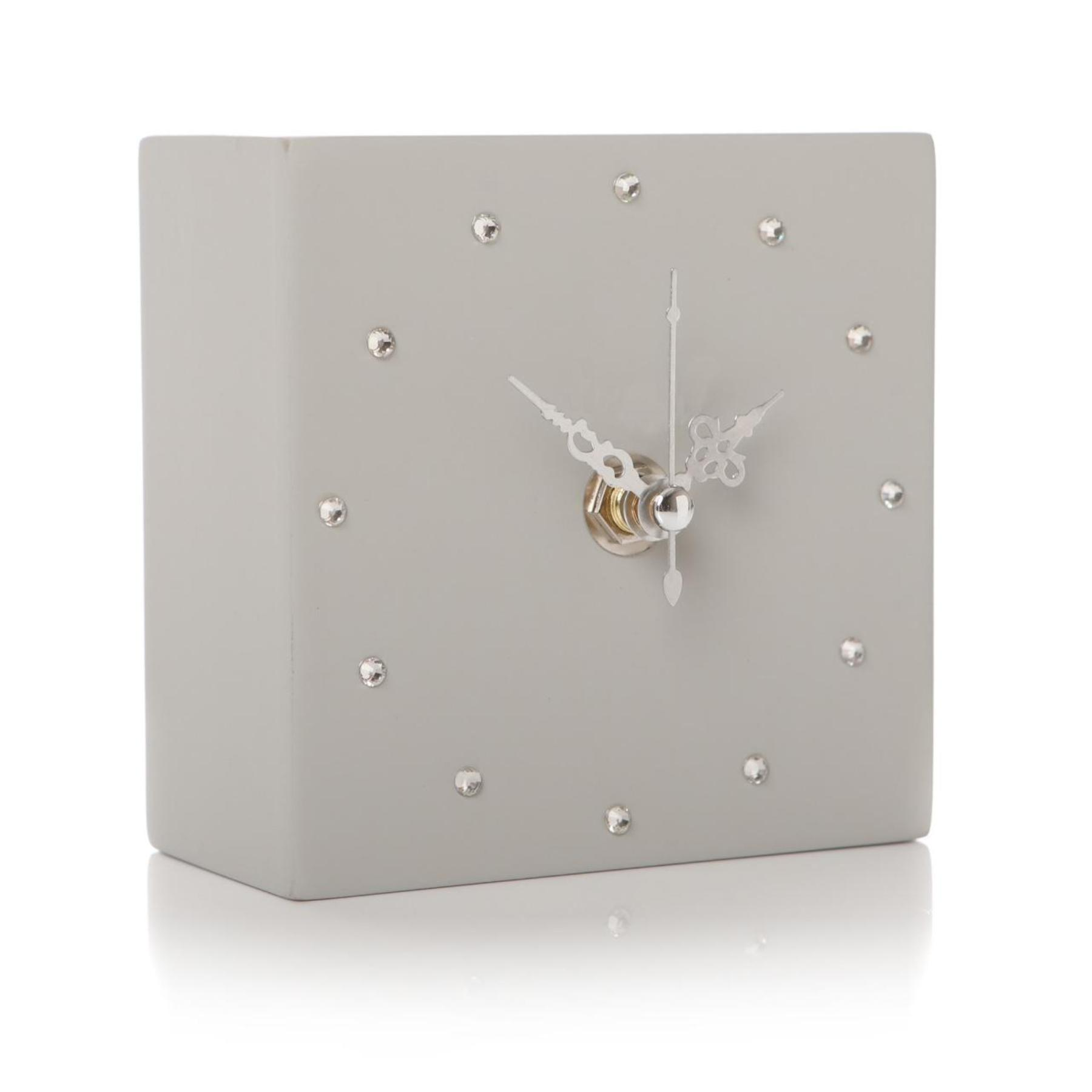Gem Clock Cube Light Grey By Shruti Designs Sandy Toes Gifts