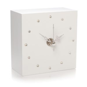 shruti designs gem clock cube white 300x300 - Gem Clock Cube White by Shruti Designs