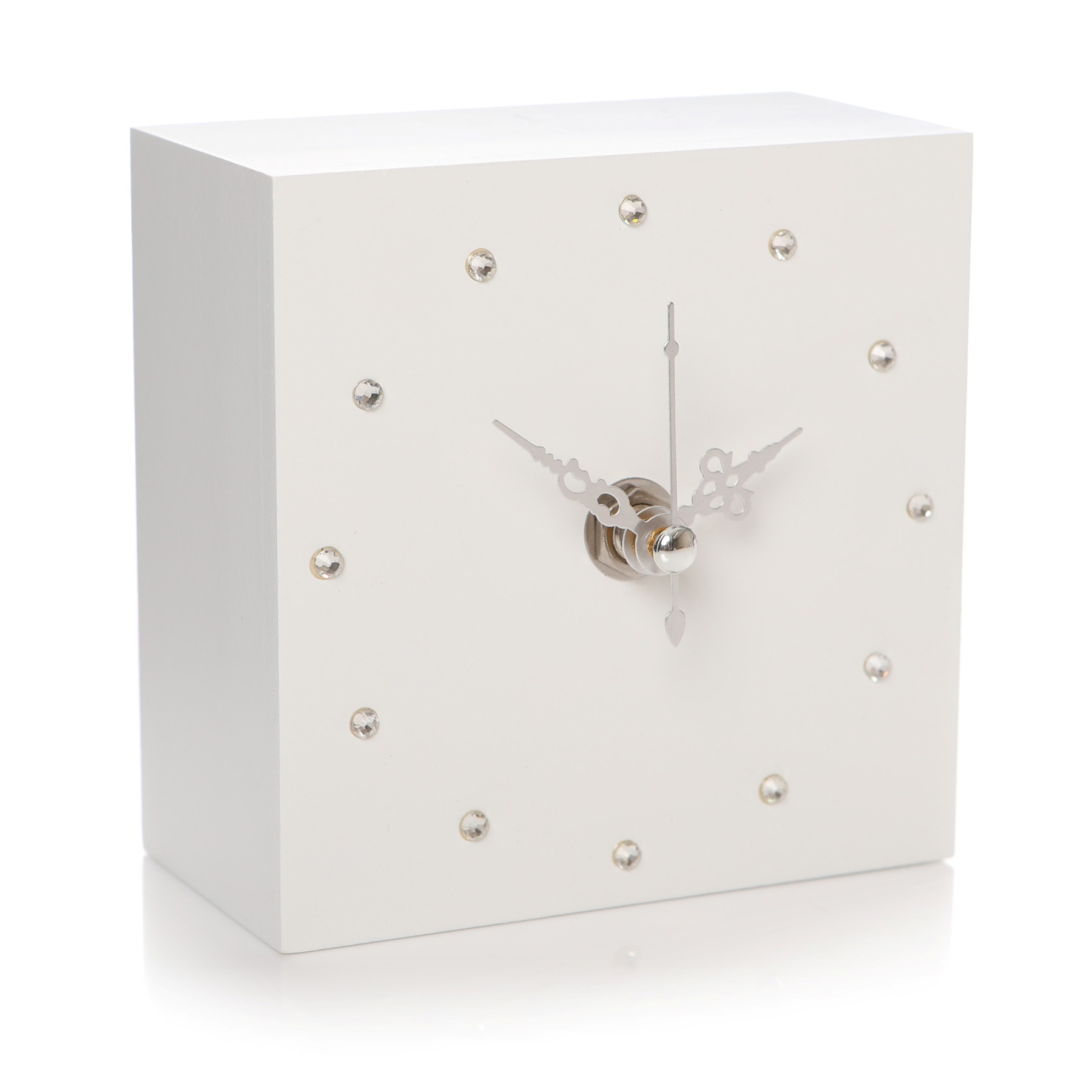 Gem Clock Cube White By Shruti Designs Sandy Toes Gifts